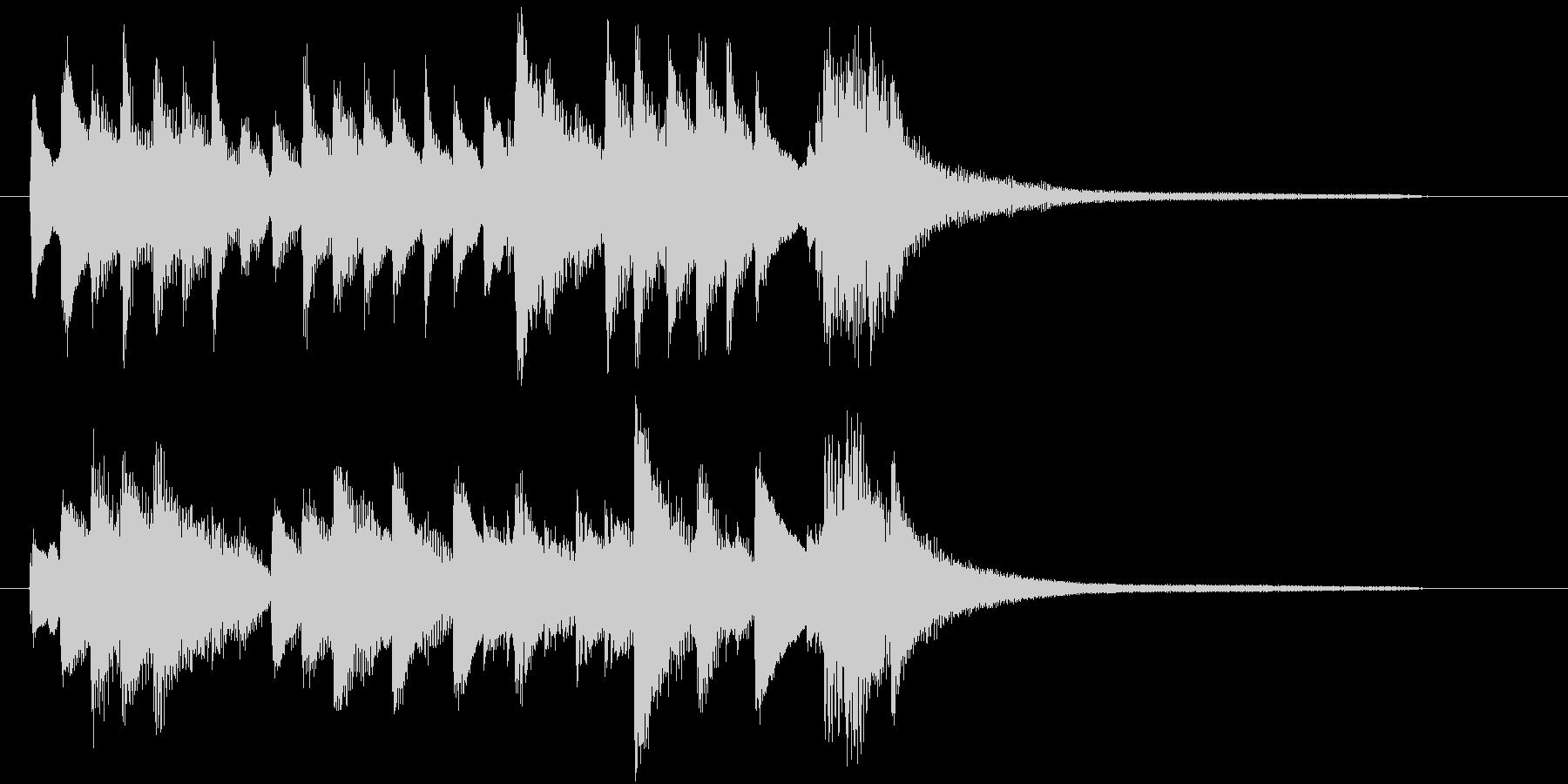 ピアノ、ジングル、ロゴ。軽やか、心地良いの未再生の波形