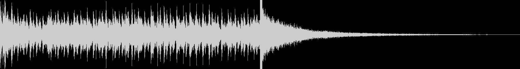 5秒でシンバルが鳴るドラムロール 豪華の未再生の波形