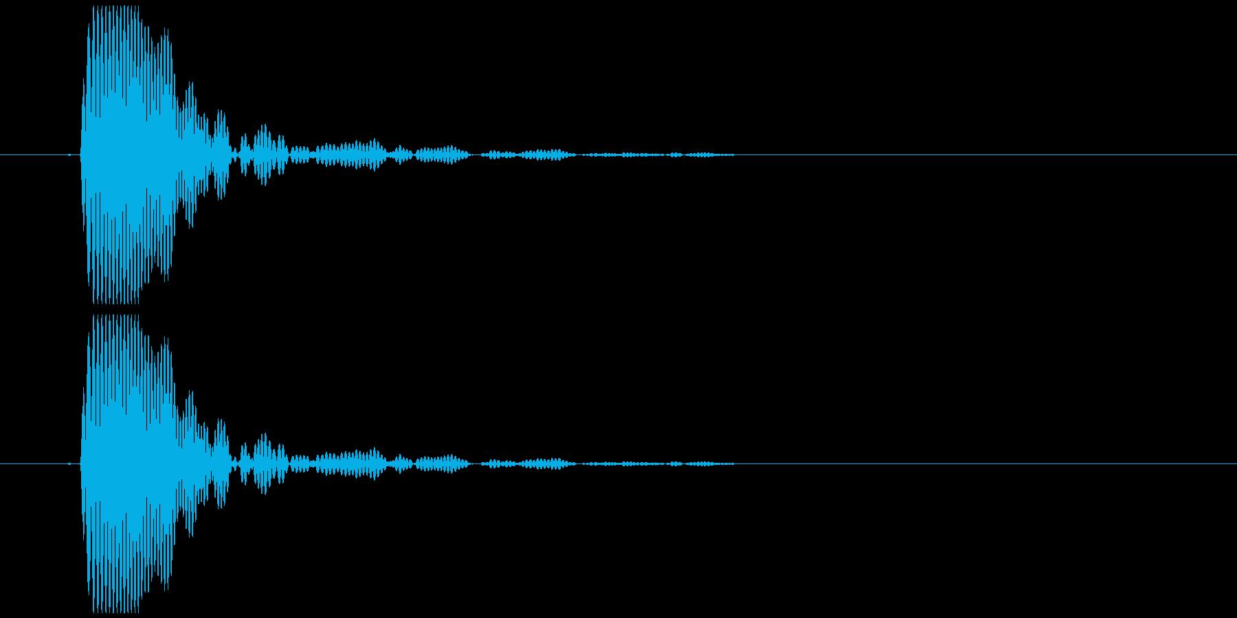 口でパッと鳴らす音の再生済みの波形