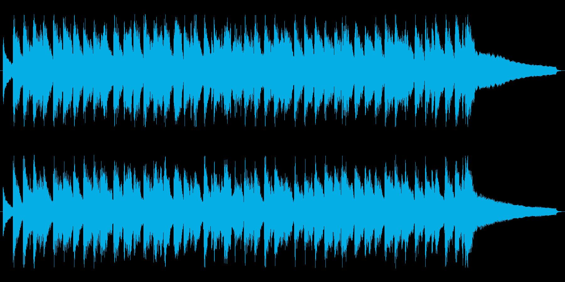 ライトジャズ「おめでとうクリスマス」の再生済みの波形
