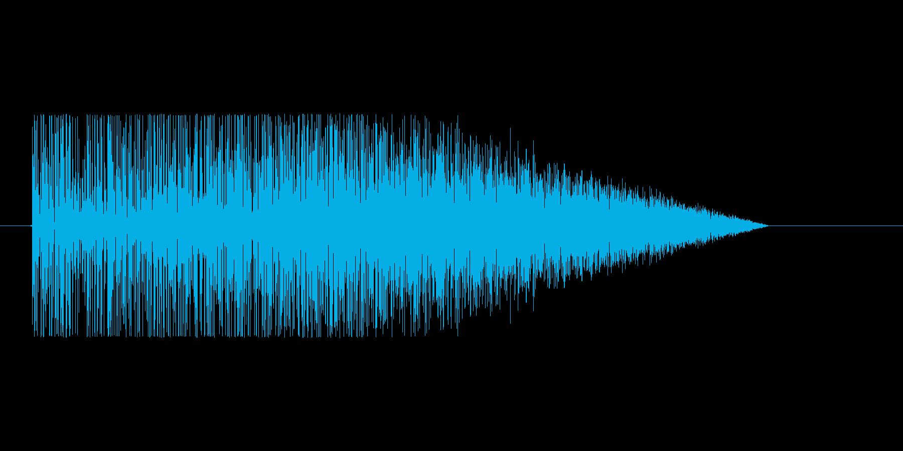 8bitの爆発音 ゴオオオオの再生済みの波形
