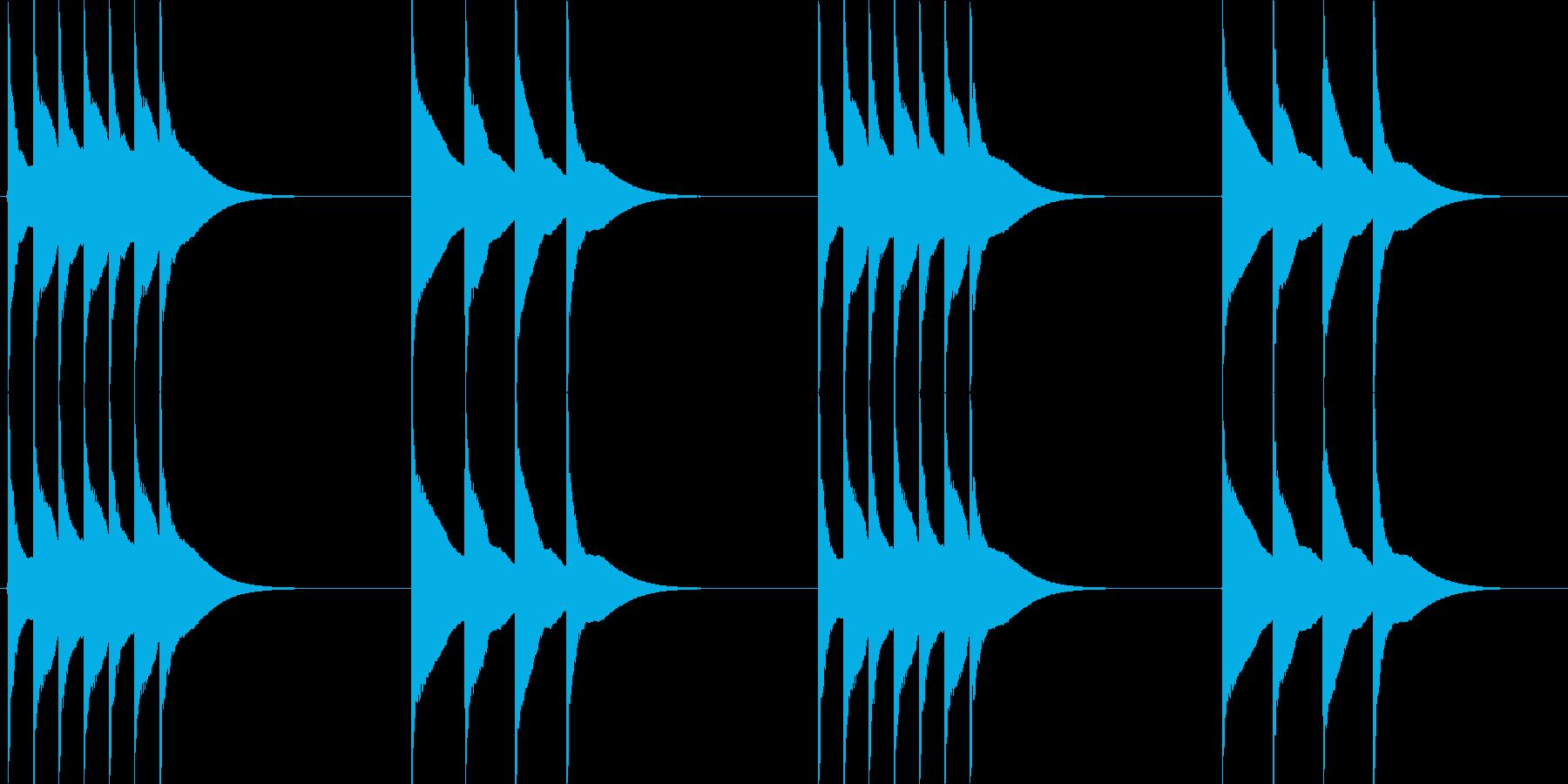 木琴のトリルを使ったシンプルな着信音の再生済みの波形