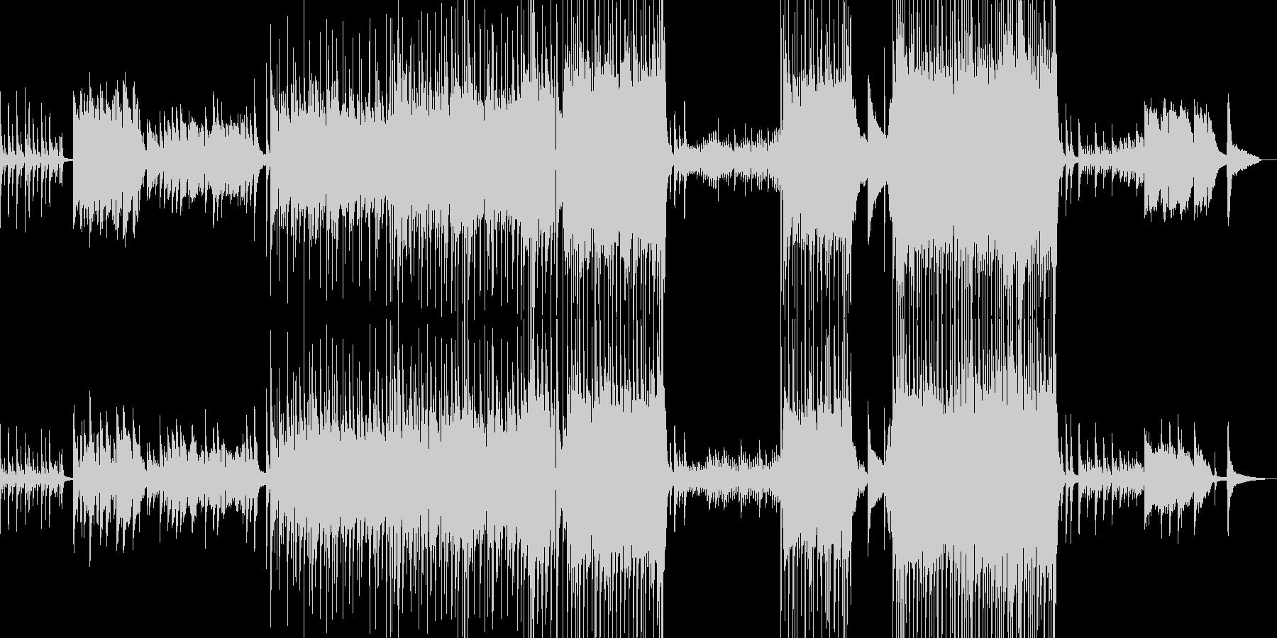 孤独で切ないピアノバラードの未再生の波形