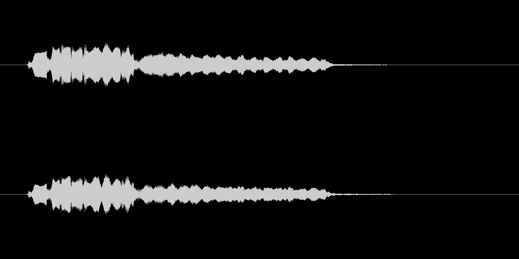 優しい笛の音(切ない、風景)の未再生の波形