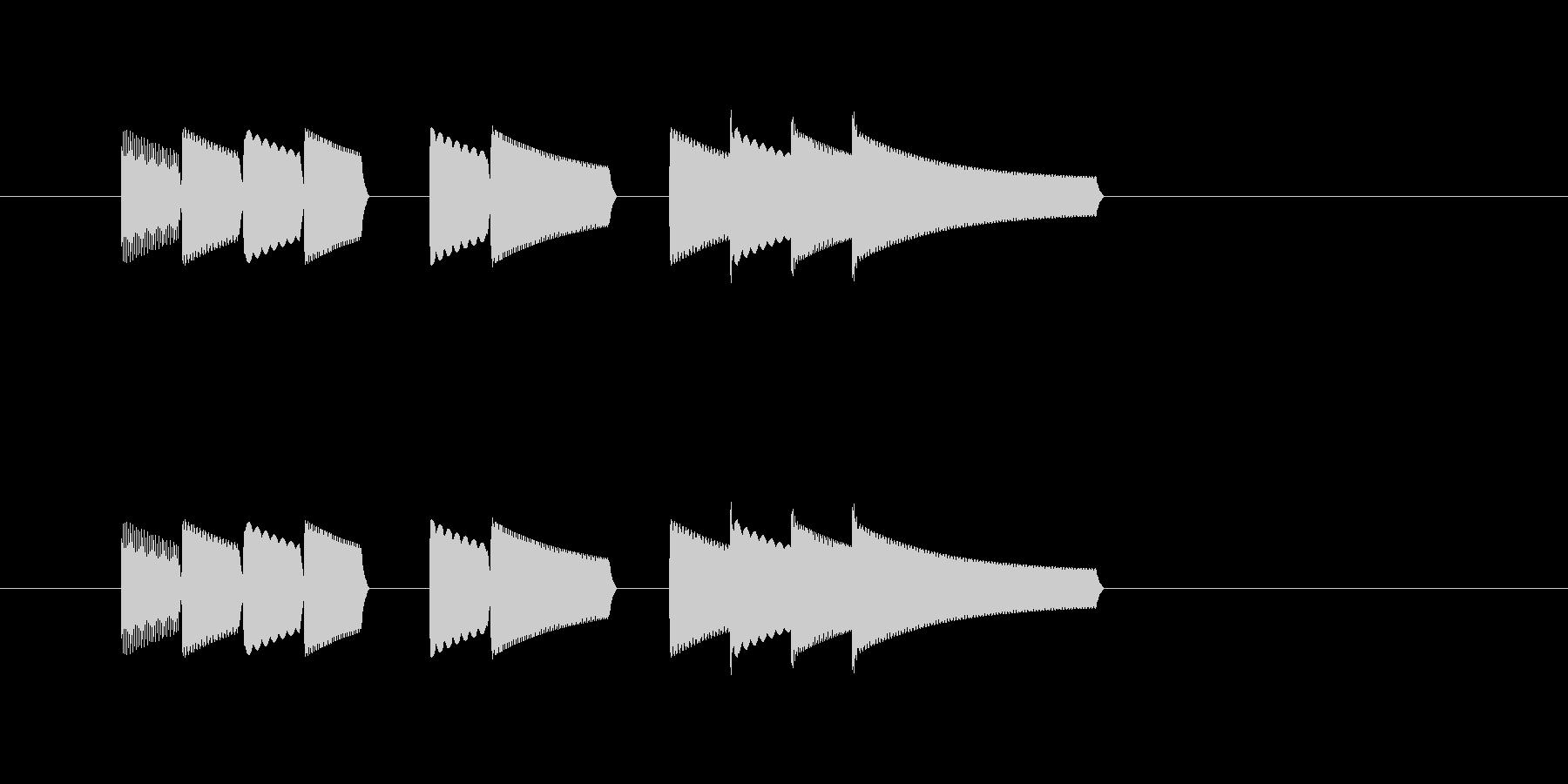 ファミコン風レベルアップ音の未再生の波形