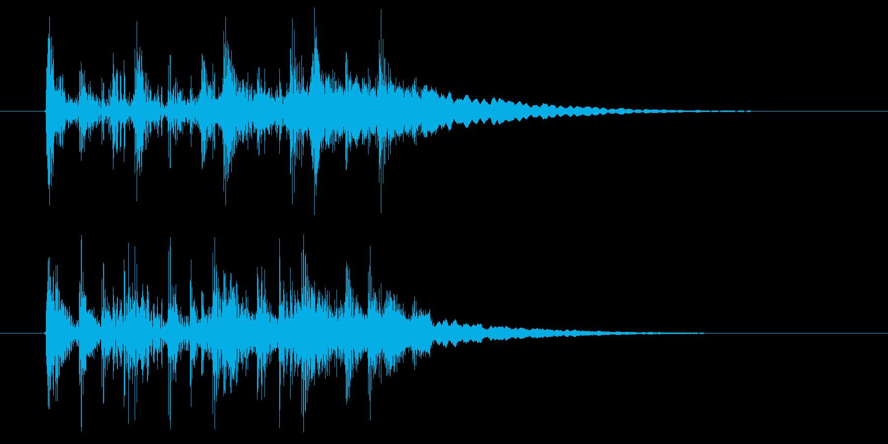 アップテンポで幻想的な音楽の再生済みの波形