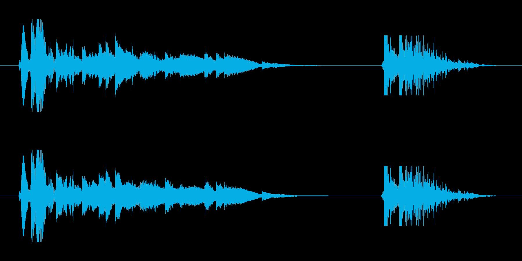 音の鳴るドアの開閉音の再生済みの波形