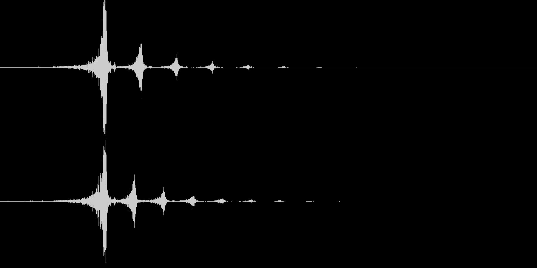 ワンショットリバース音02の未再生の波形