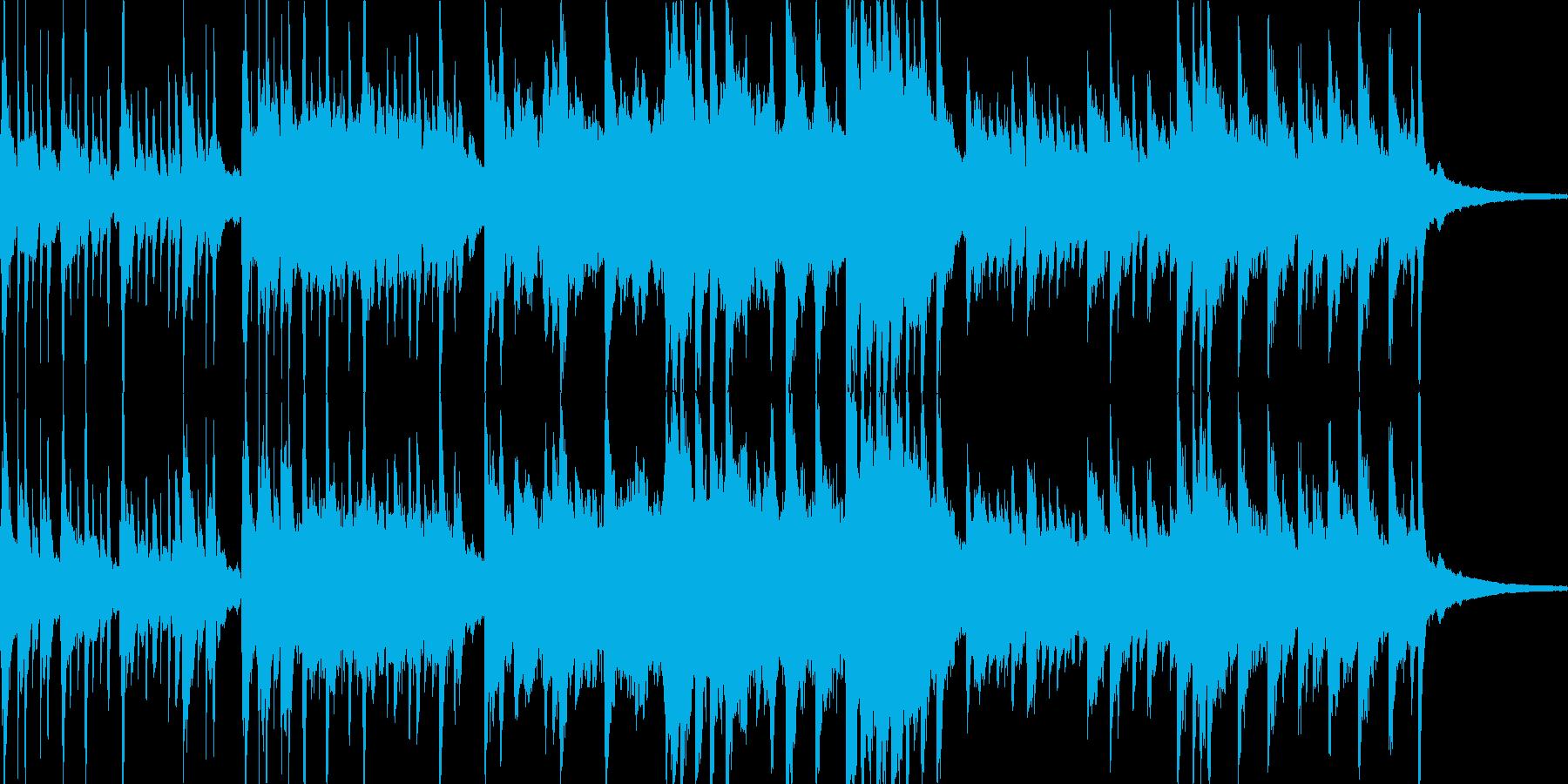 ピアノがメインの曲の再生済みの波形