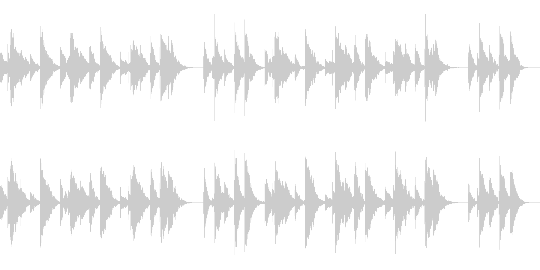 ハッピーバースデーのオルゴールアレンジの未再生の波形