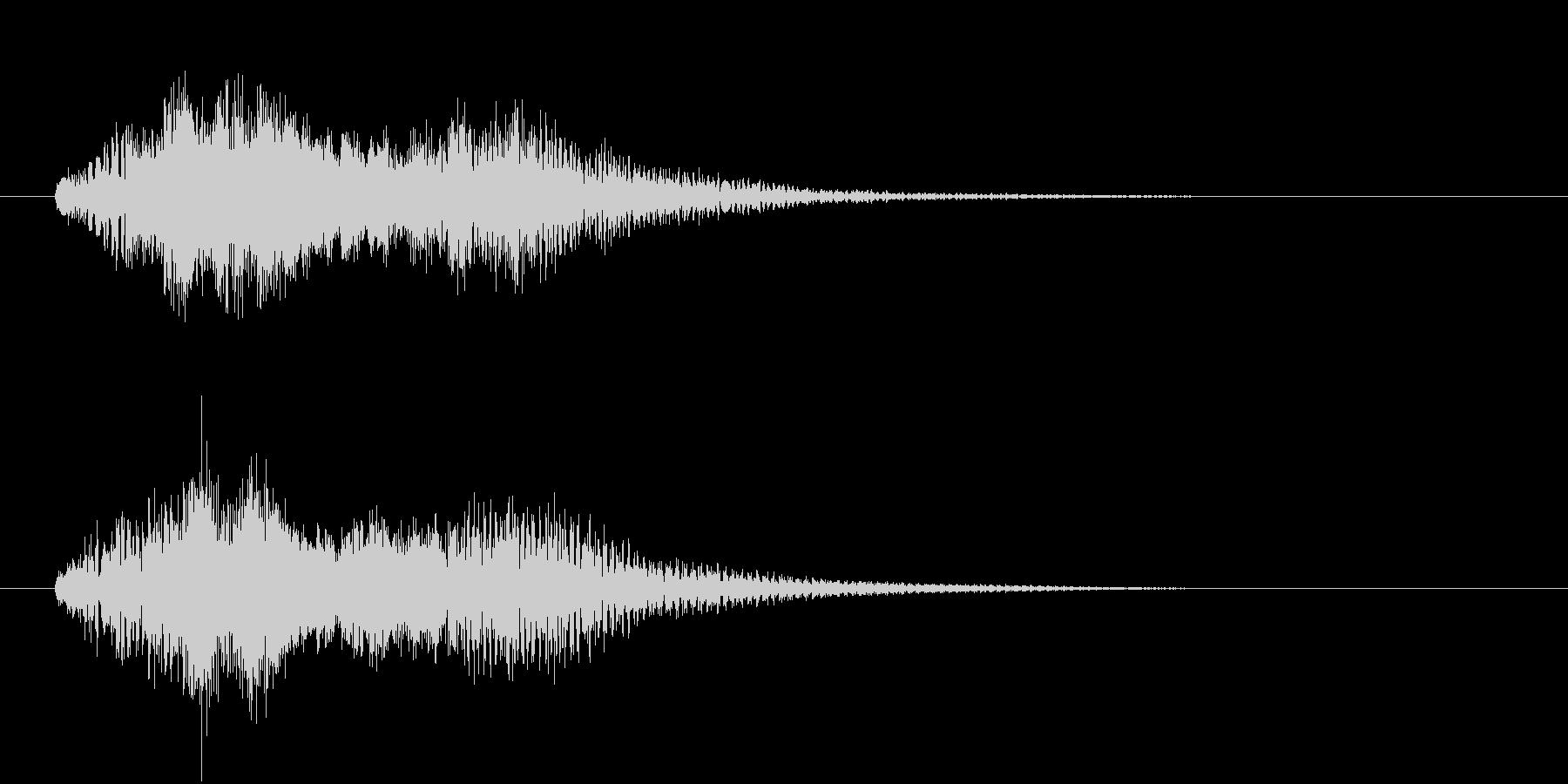 ハープのグリッサンド。2種類のハープを…の未再生の波形