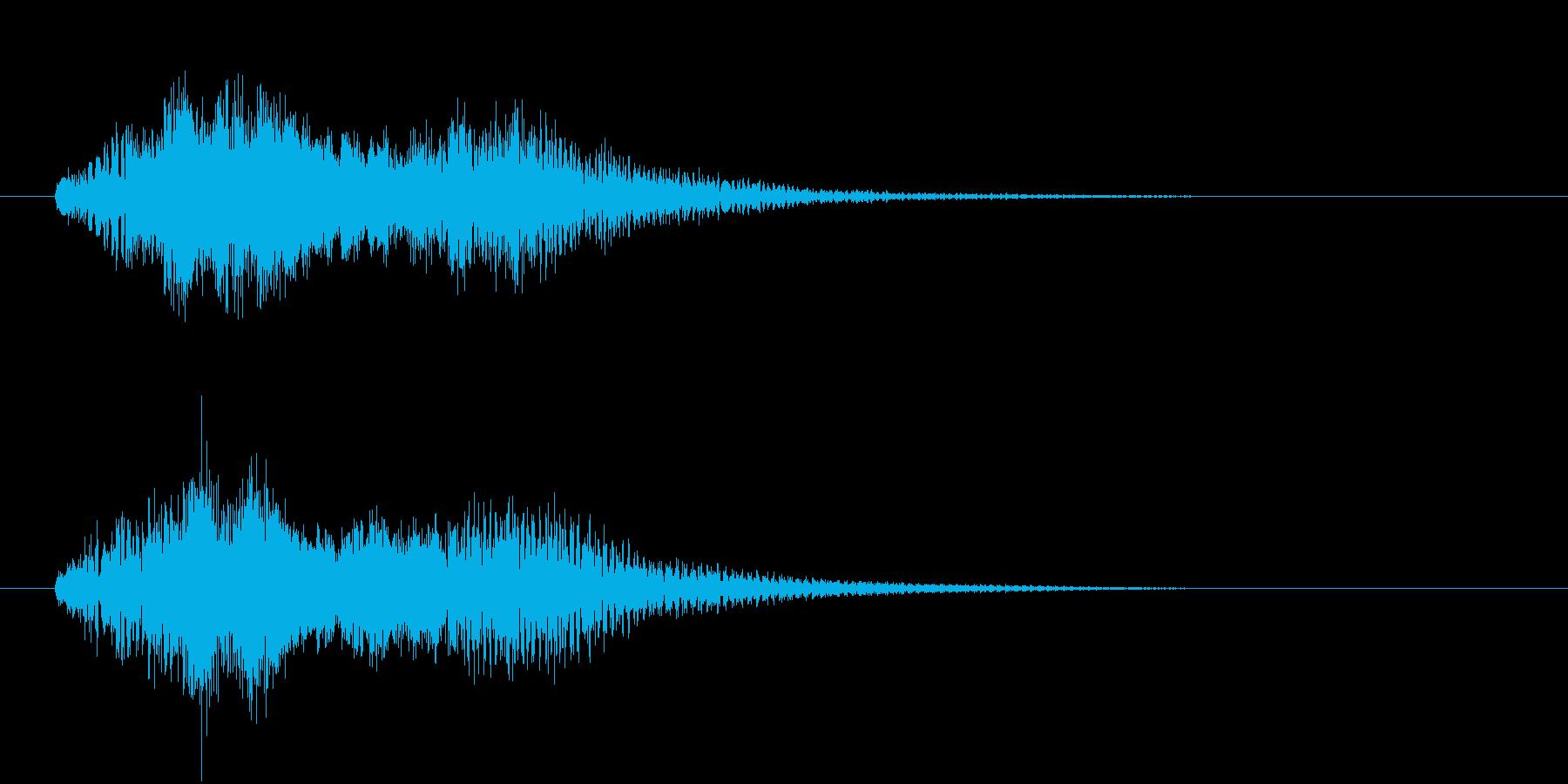 ハープのグリッサンド。2種類のハープを…の再生済みの波形