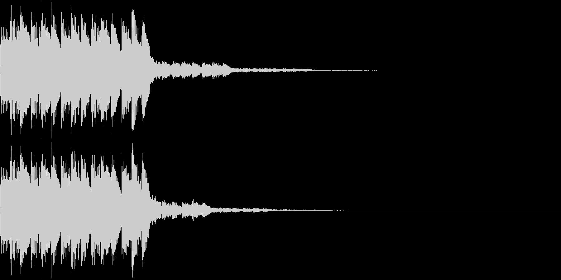 テロップ音02の未再生の波形