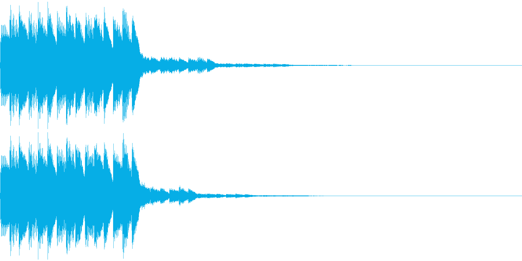 テロップ音02の再生済みの波形