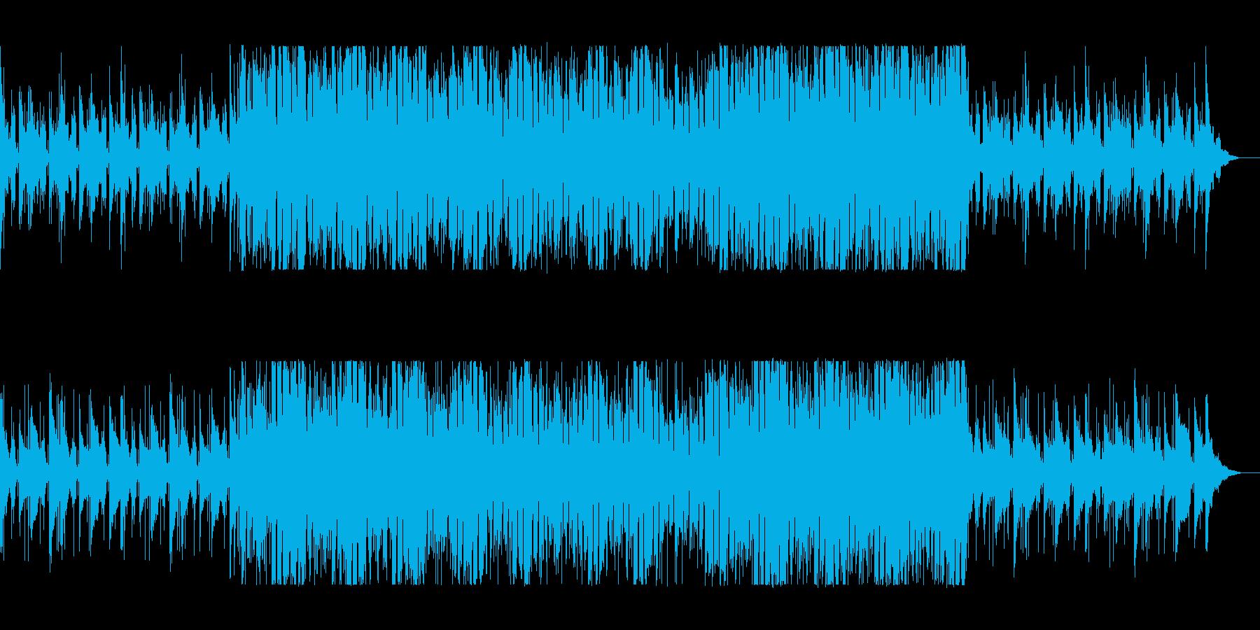 爽快でも落ち着けるBGMの再生済みの波形