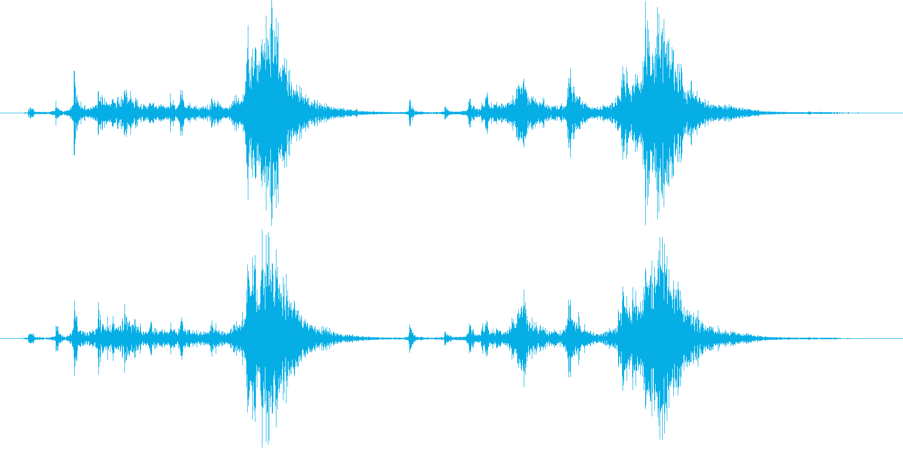 ショットガンポンプアクションの再生済みの波形