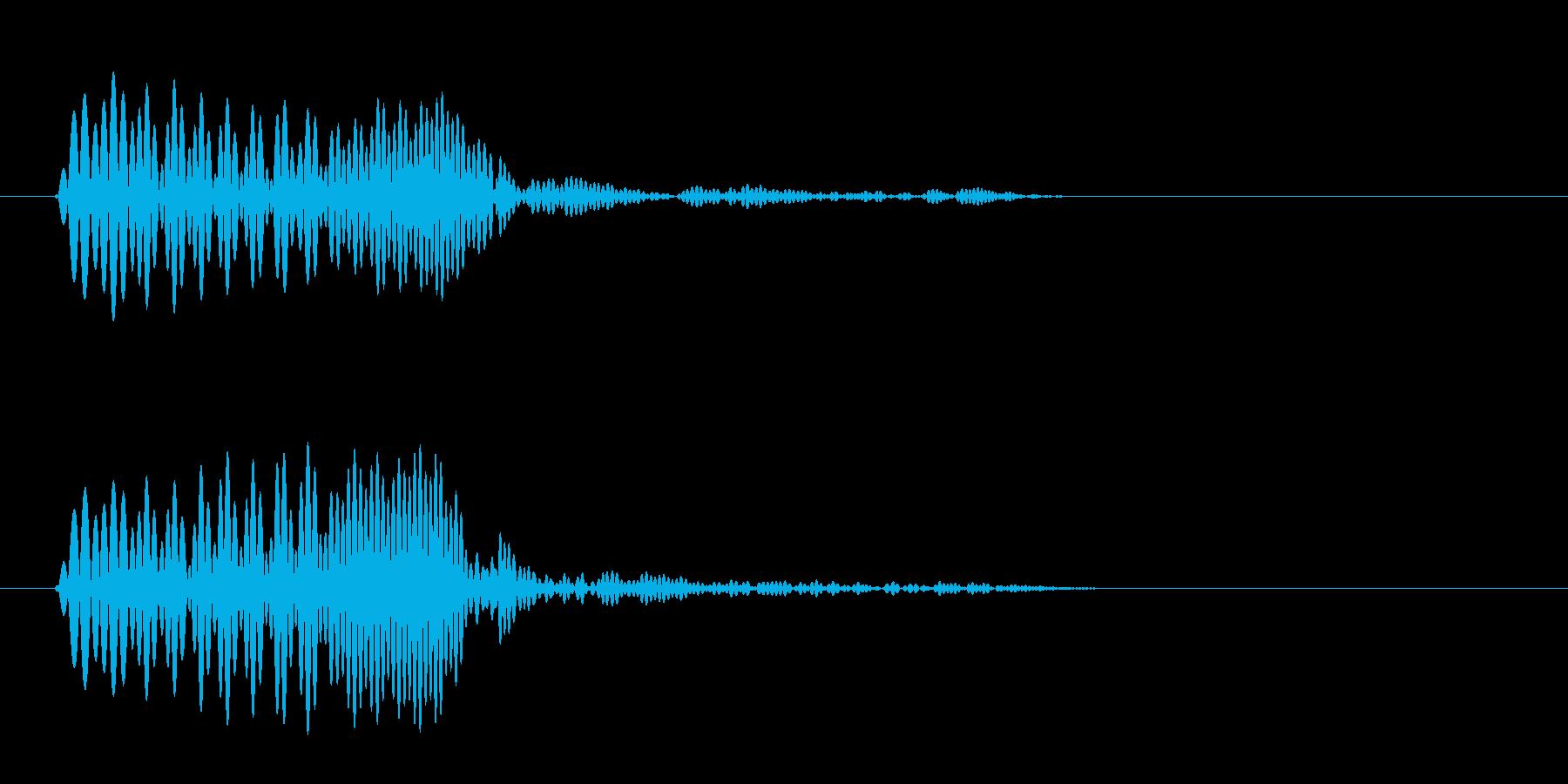 ポワ ポワッ ポッ(クリアな決定音)の再生済みの波形