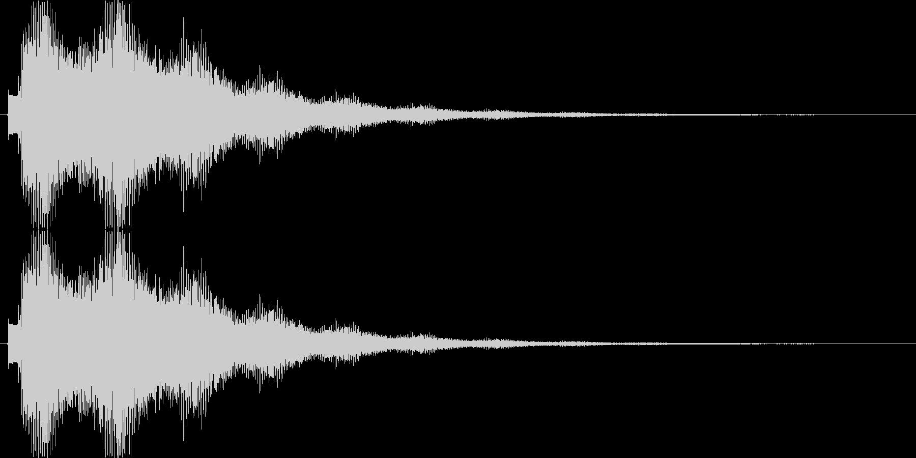 キラーンキラーン…(キラキラ、決定音)の未再生の波形