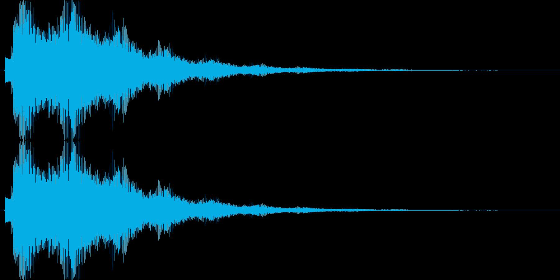 キラーンキラーン…(キラキラ、決定音)の再生済みの波形