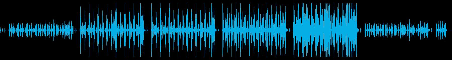 温かみのあるコンセプトムービー用BGMの再生済みの波形