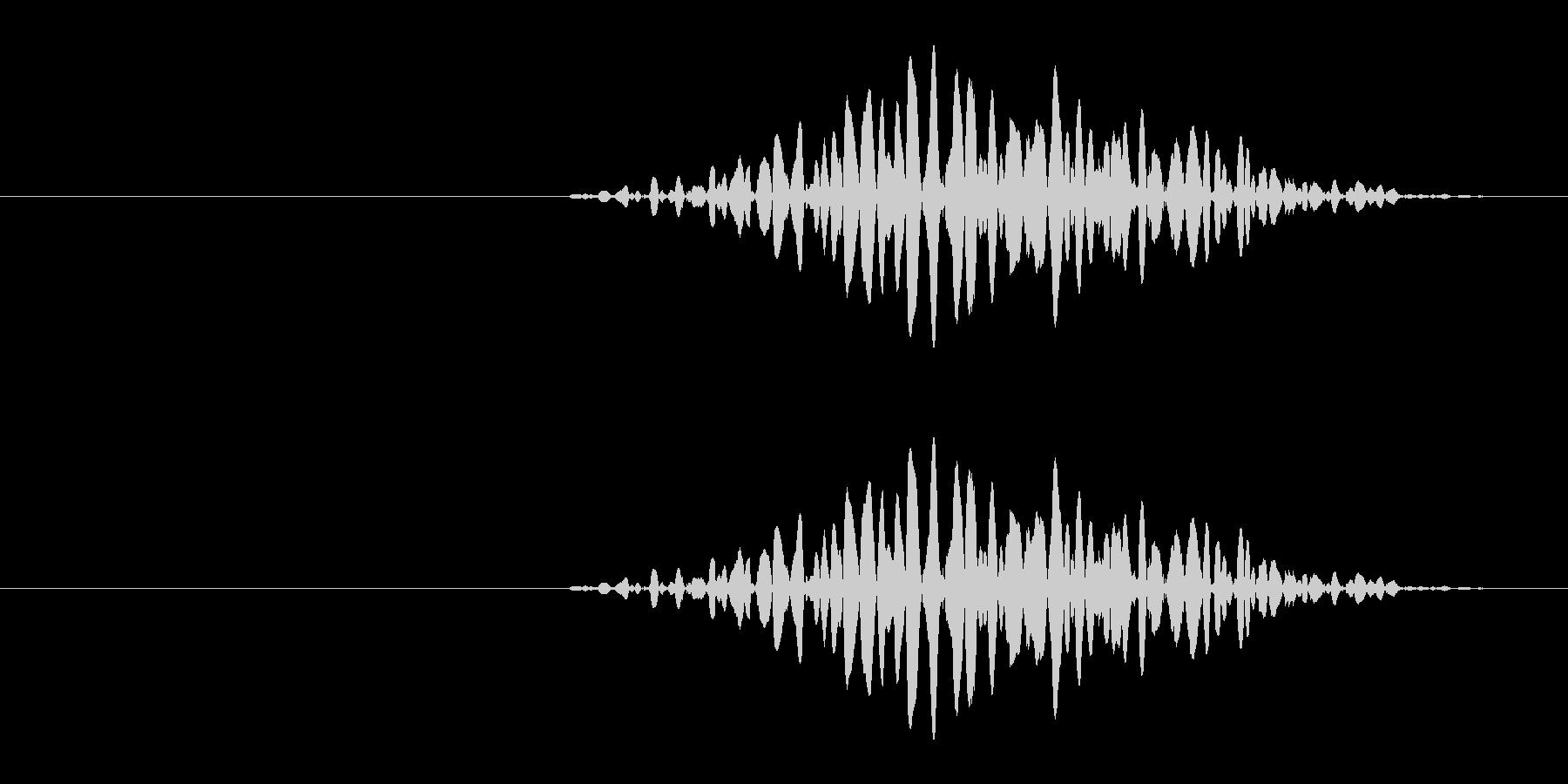 引き出しなどを開ける音の未再生の波形