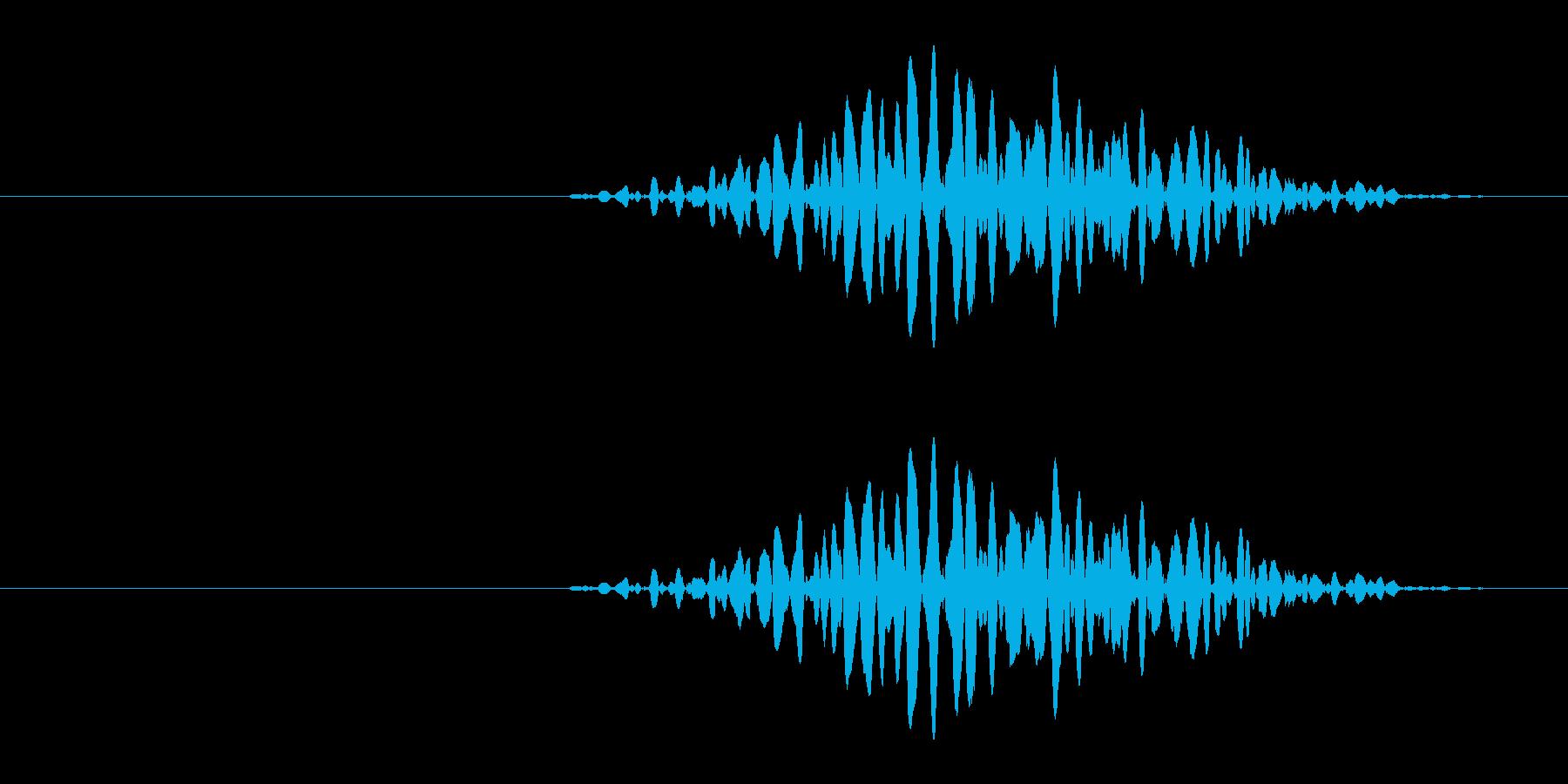 引き出しなどを開ける音の再生済みの波形