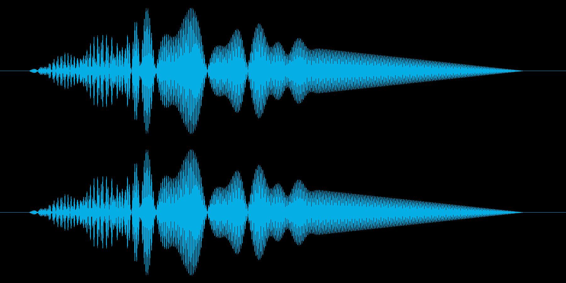 カーソル移動音9の再生済みの波形