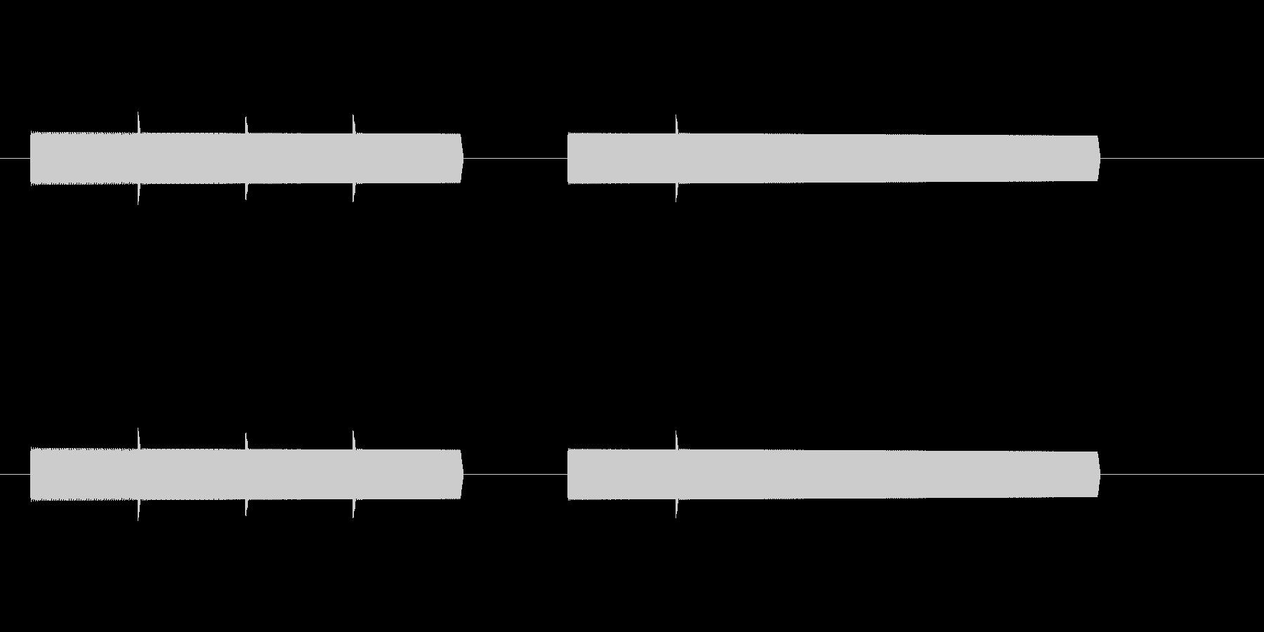 【効果音】8ビットファンファーレ風2の未再生の波形