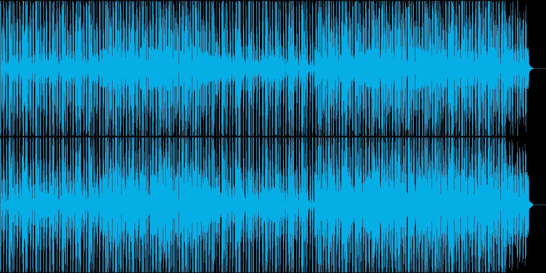怪しげな雰囲気のファンクの再生済みの波形