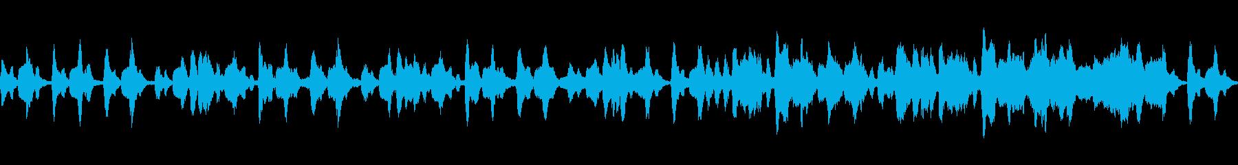 ゆったりとした雰囲気の日常系BGMの再生済みの波形
