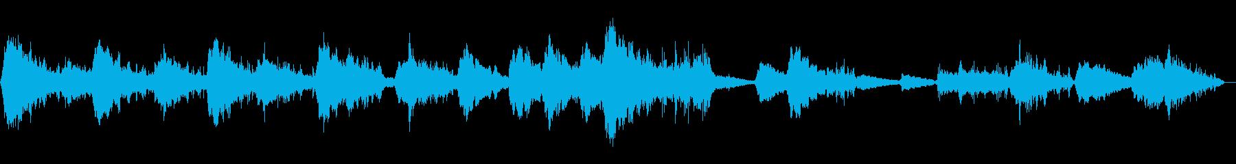 暗い深海をイメージしたアンビエントBの再生済みの波形
