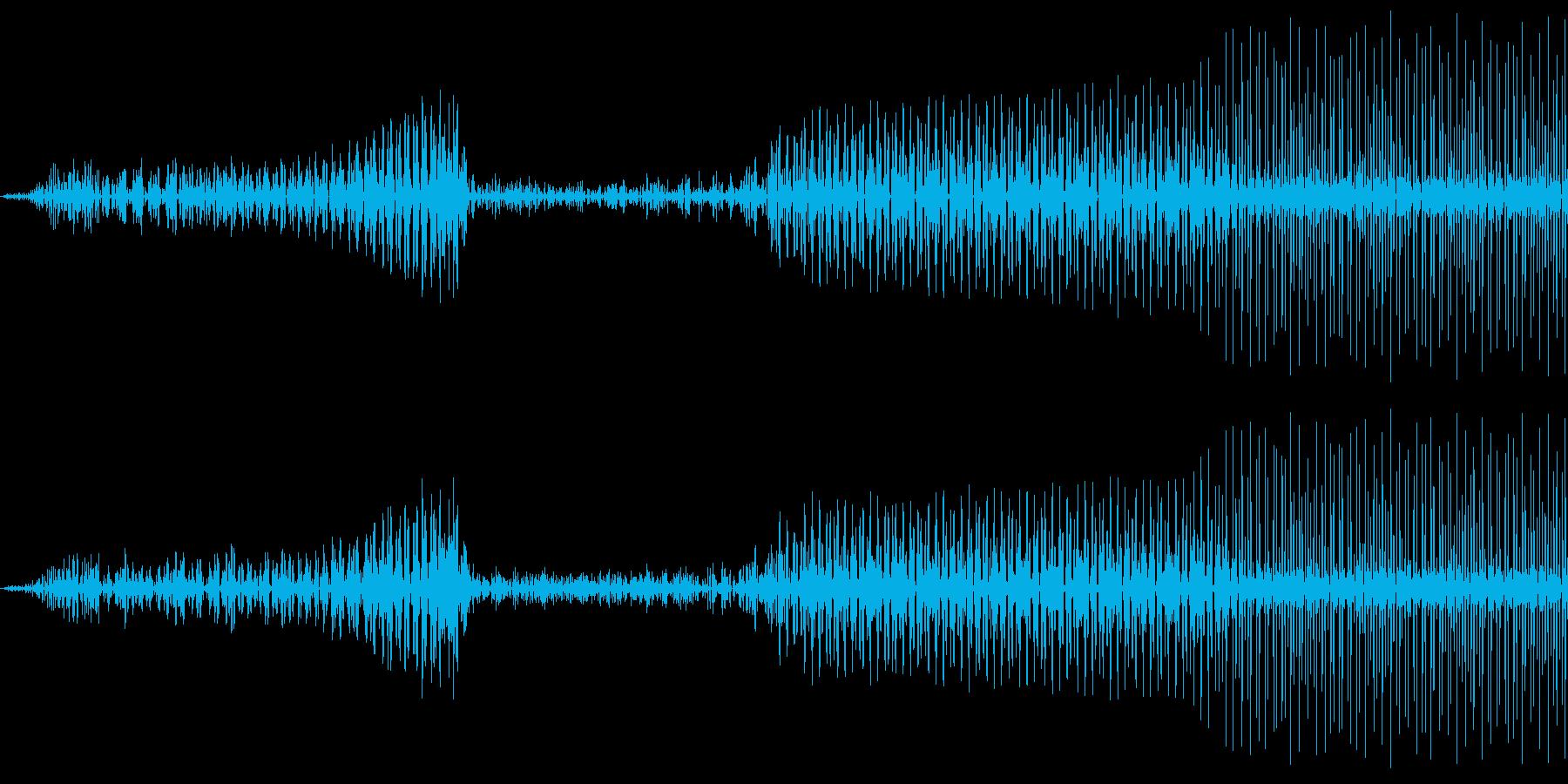 ボタン押下や決定音_キュピッ!の再生済みの波形