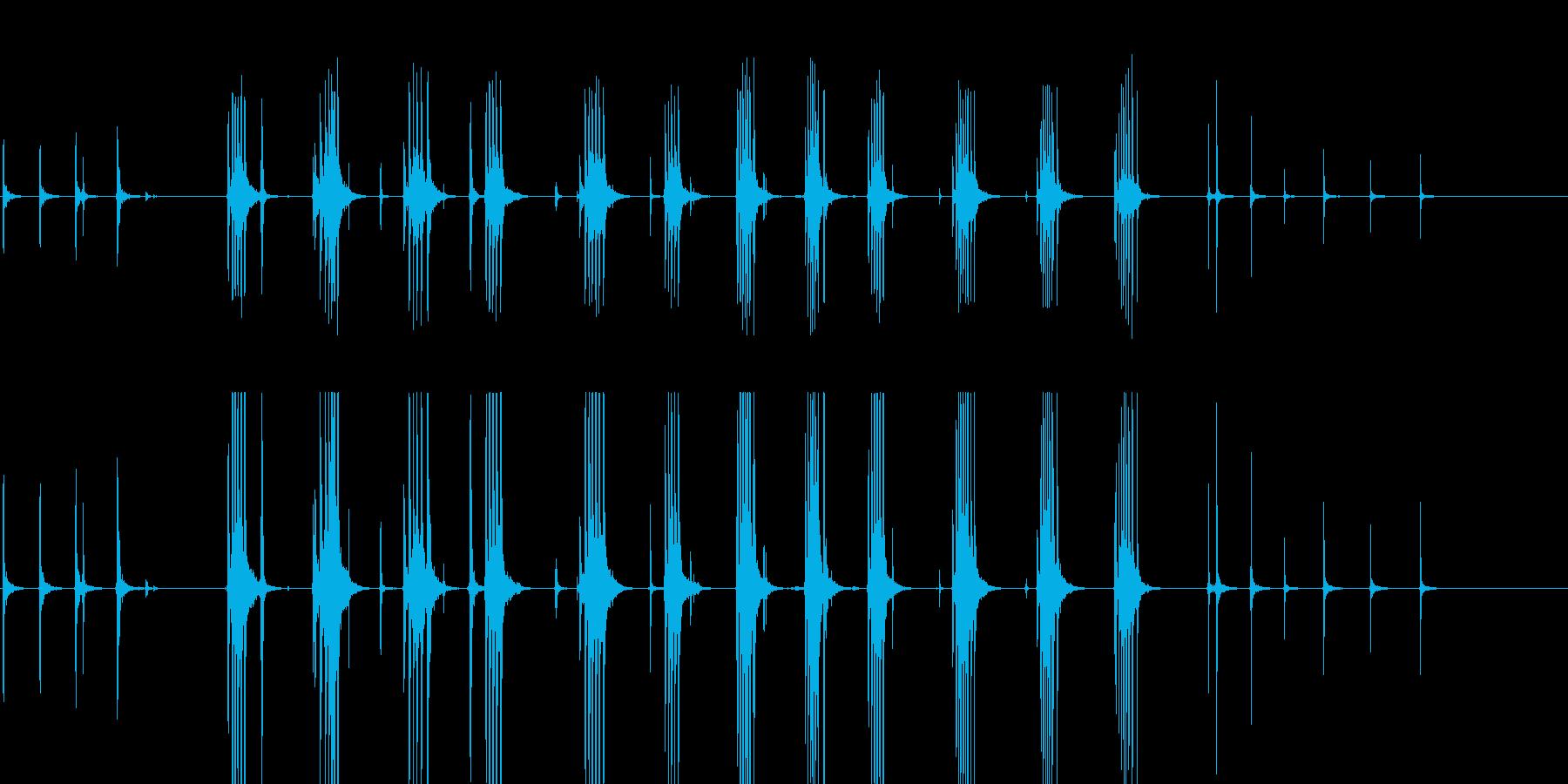金庫のダイヤル音の再生済みの波形