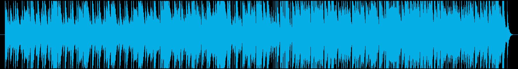 ラテン風のお気楽な雰囲気のBGMの再生済みの波形