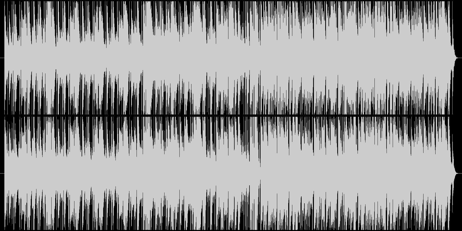 ラテン風のお気楽な雰囲気のBGMの未再生の波形
