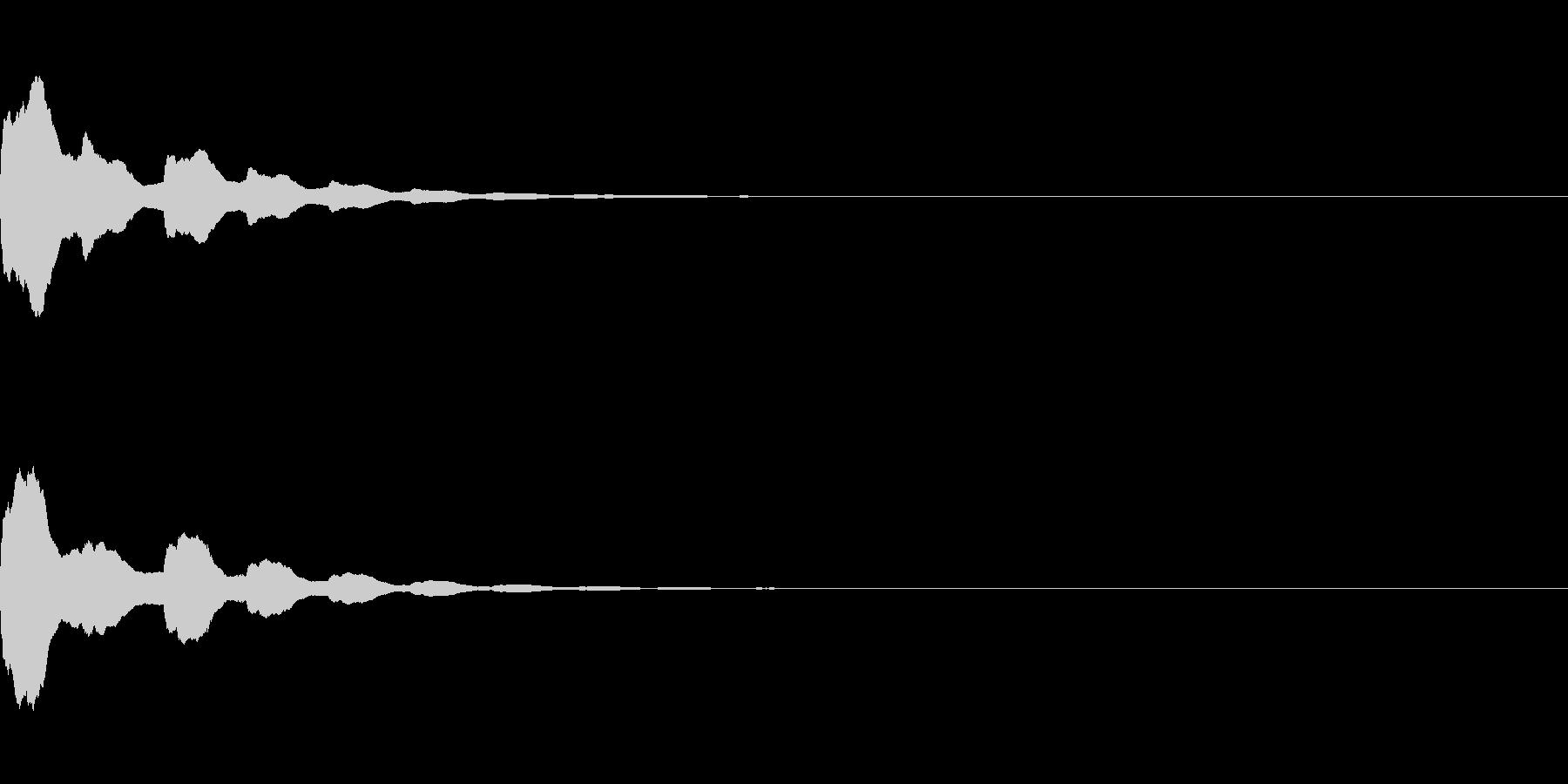 コーン(決定_1)の未再生の波形