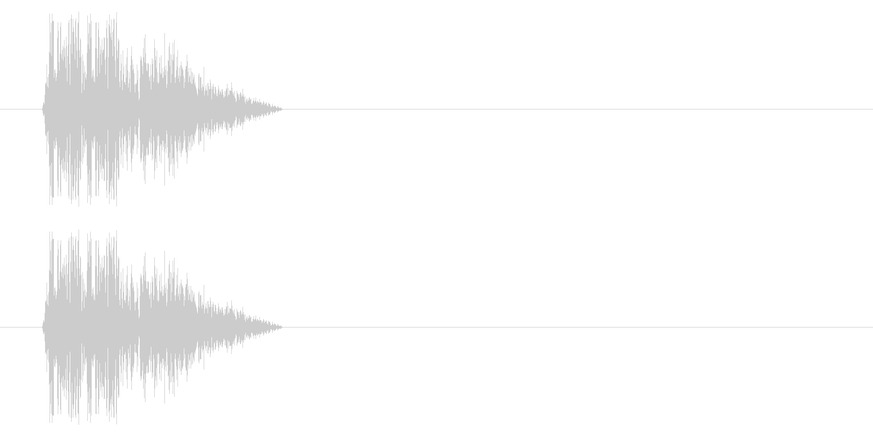 SNES 格闘06-12(倒れる)の未再生の波形