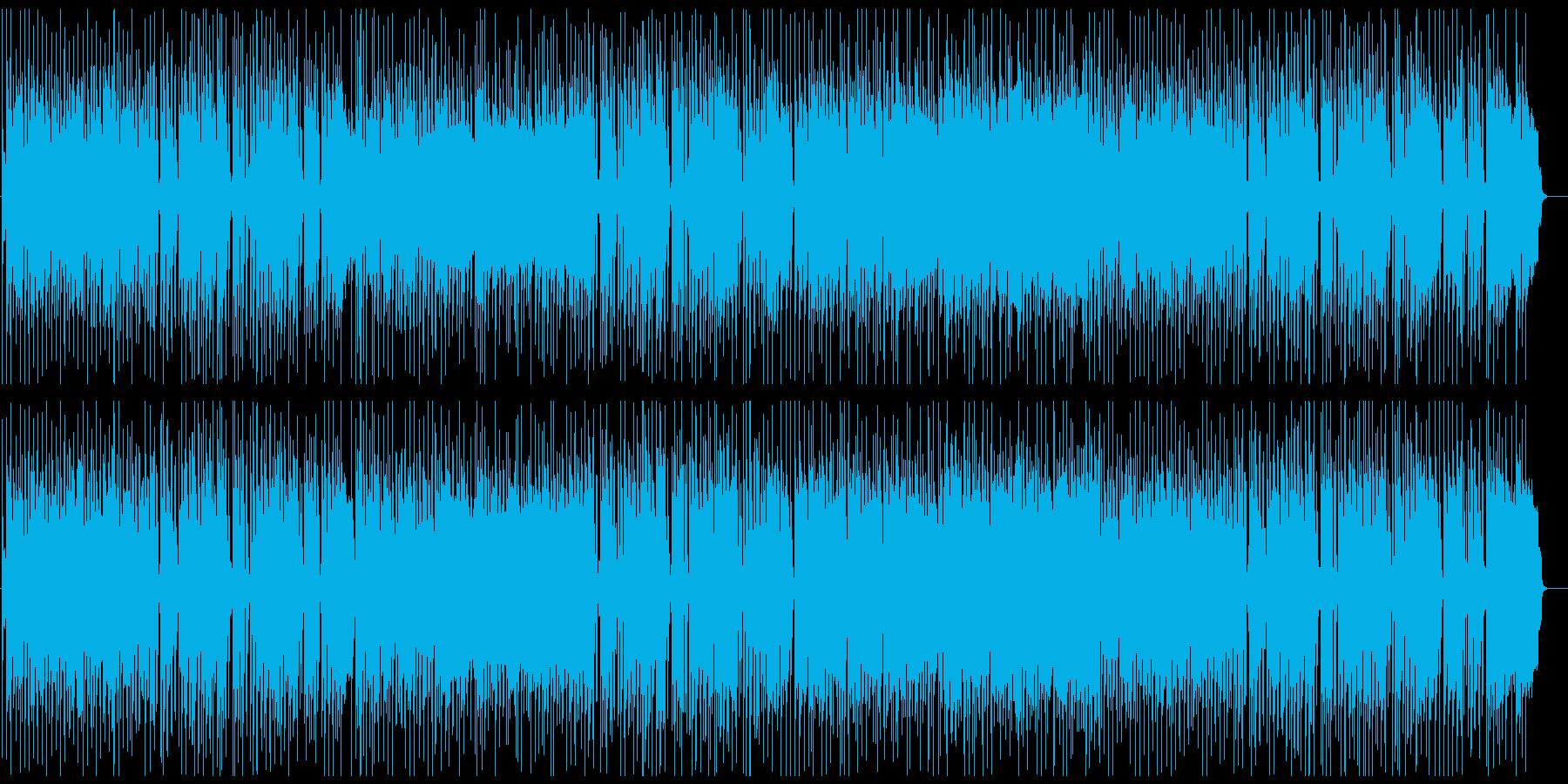 ハードなFunk Rock、ギター生演奏の再生済みの波形