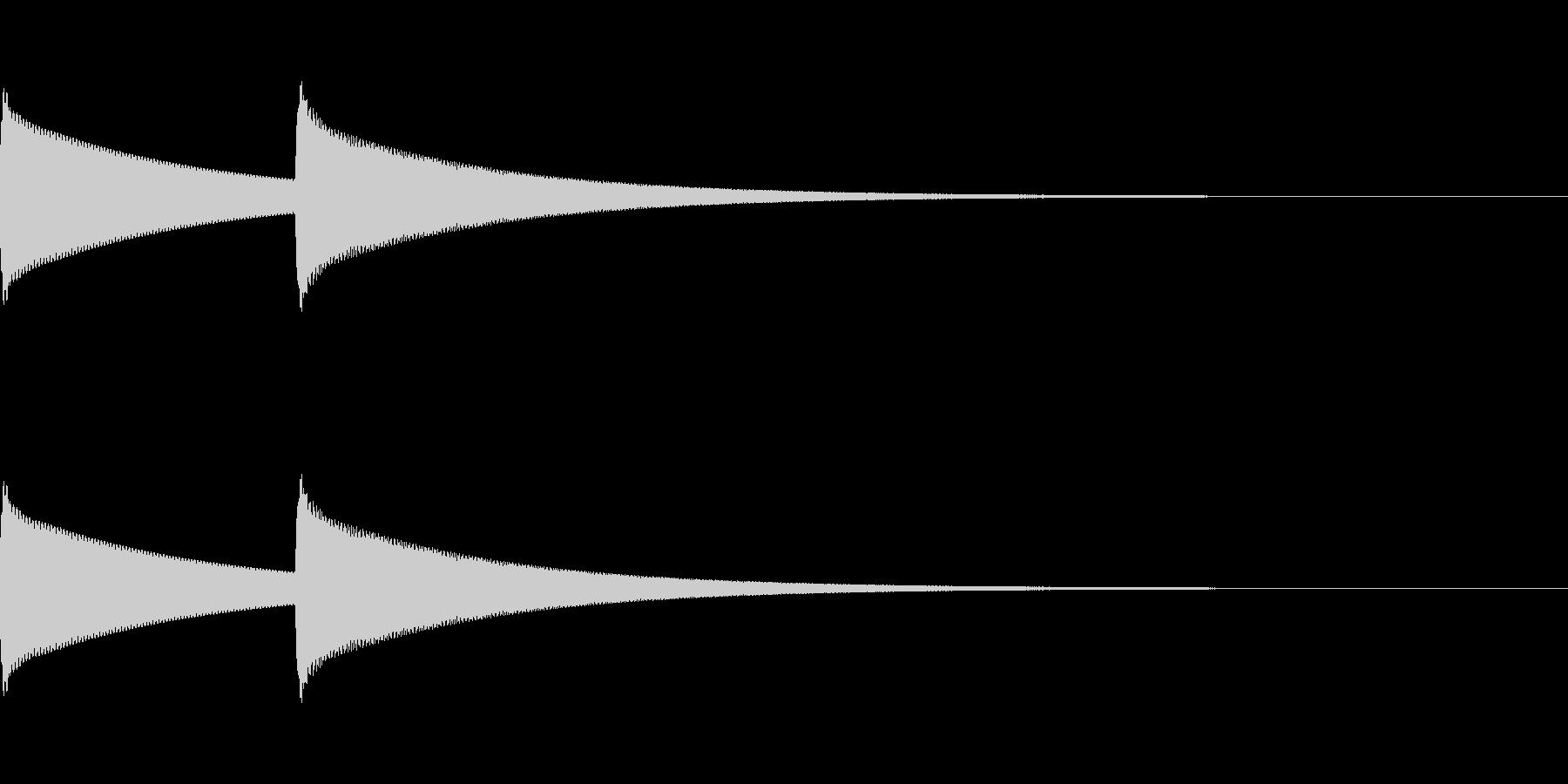 [インターホン]の未再生の波形