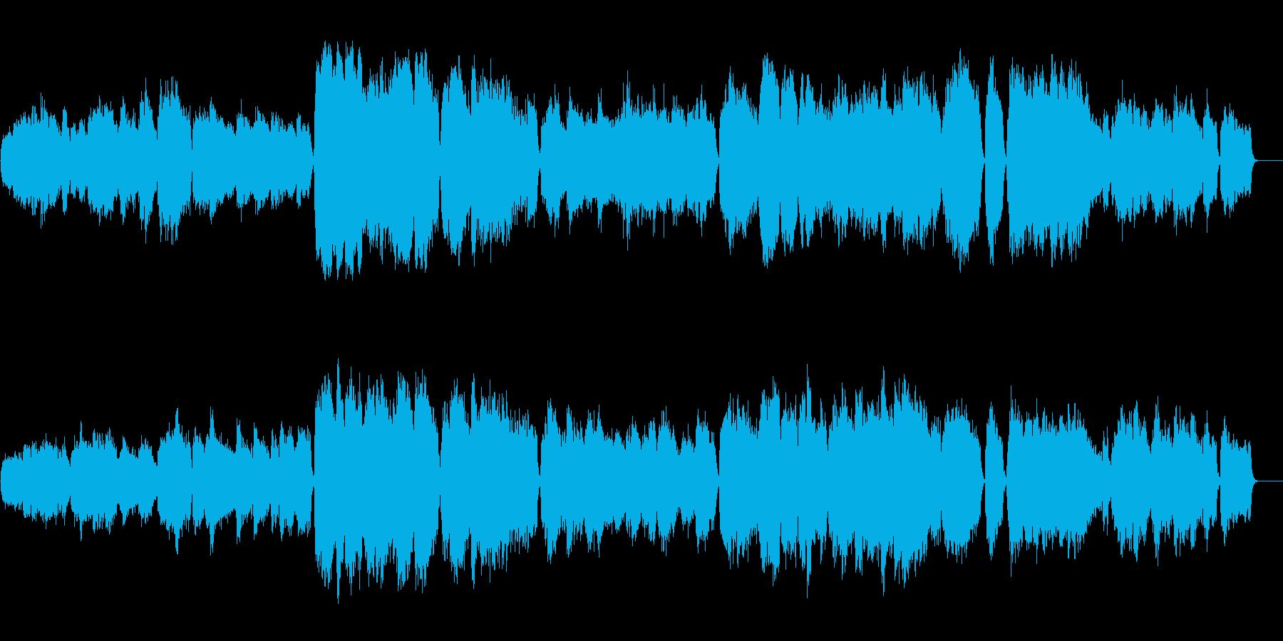 銀世界を想う荘厳なオーケストラサウンドの再生済みの波形