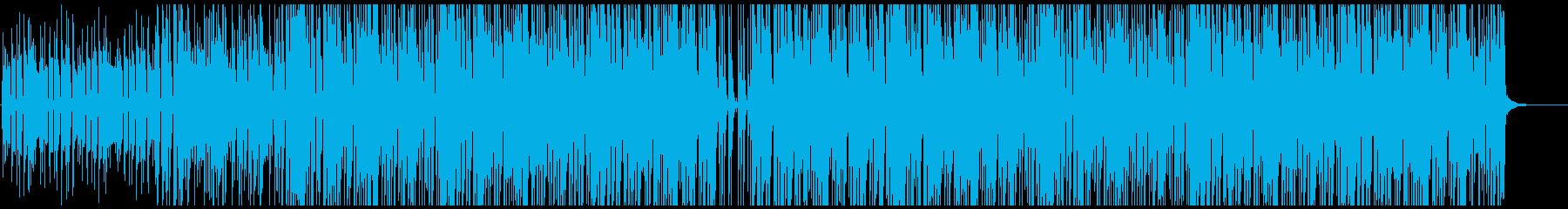 ポップでファンキーなロックの再生済みの波形