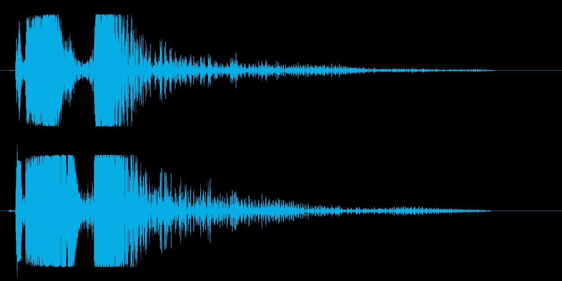 チュド〜ン(発射音)の再生済みの波形