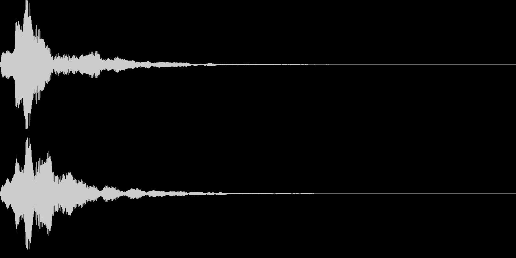 キャンセル音04の未再生の波形