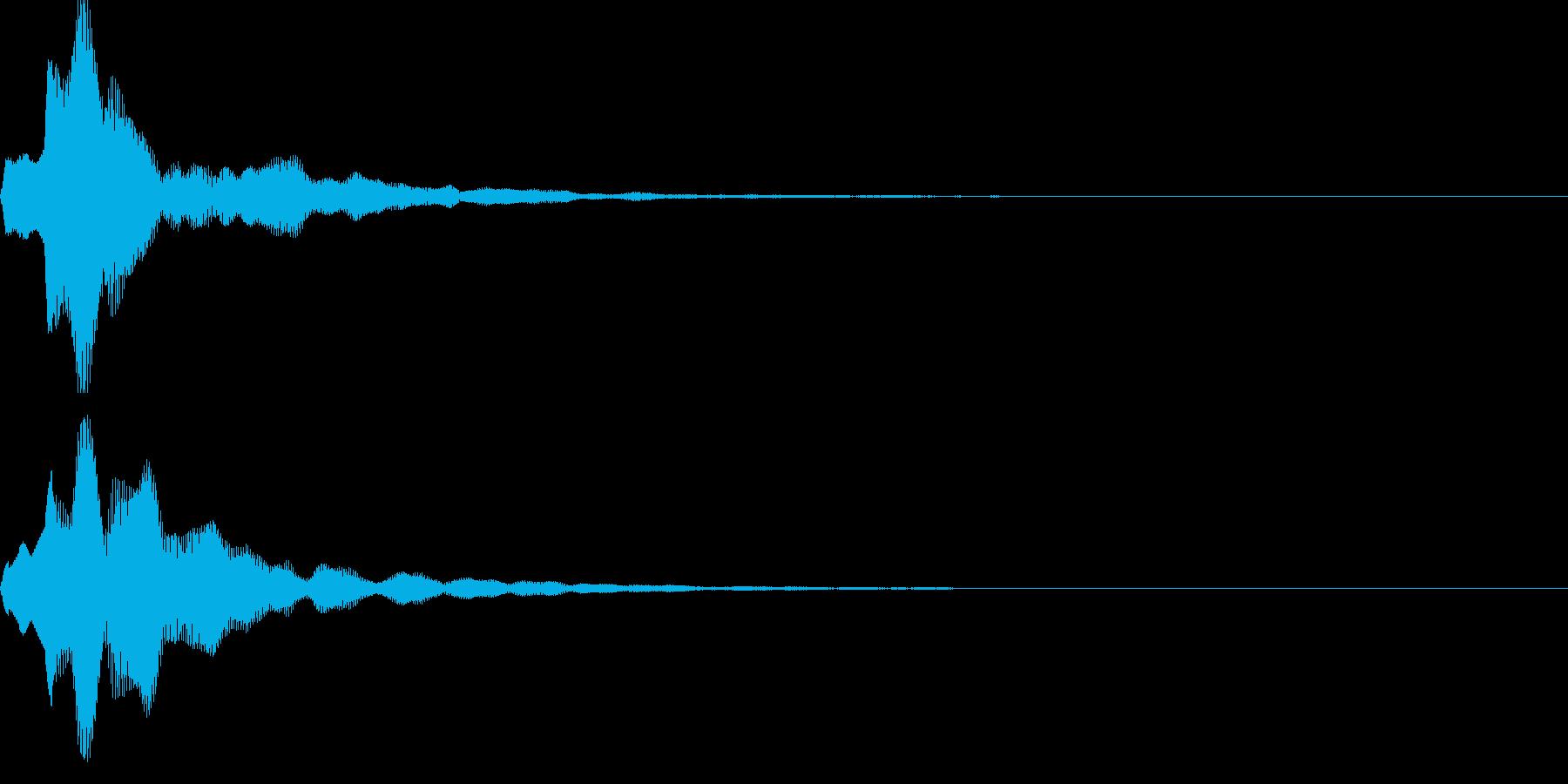 キャンセル音04の再生済みの波形