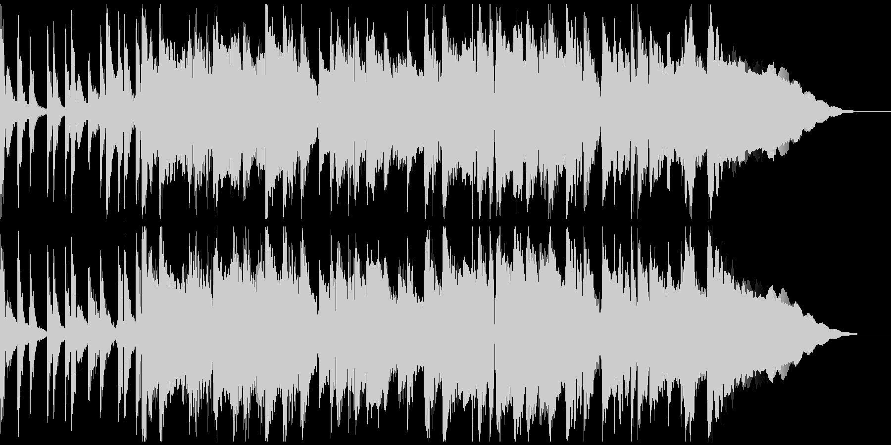 サックスを使ったジャズ風ジングルの未再生の波形