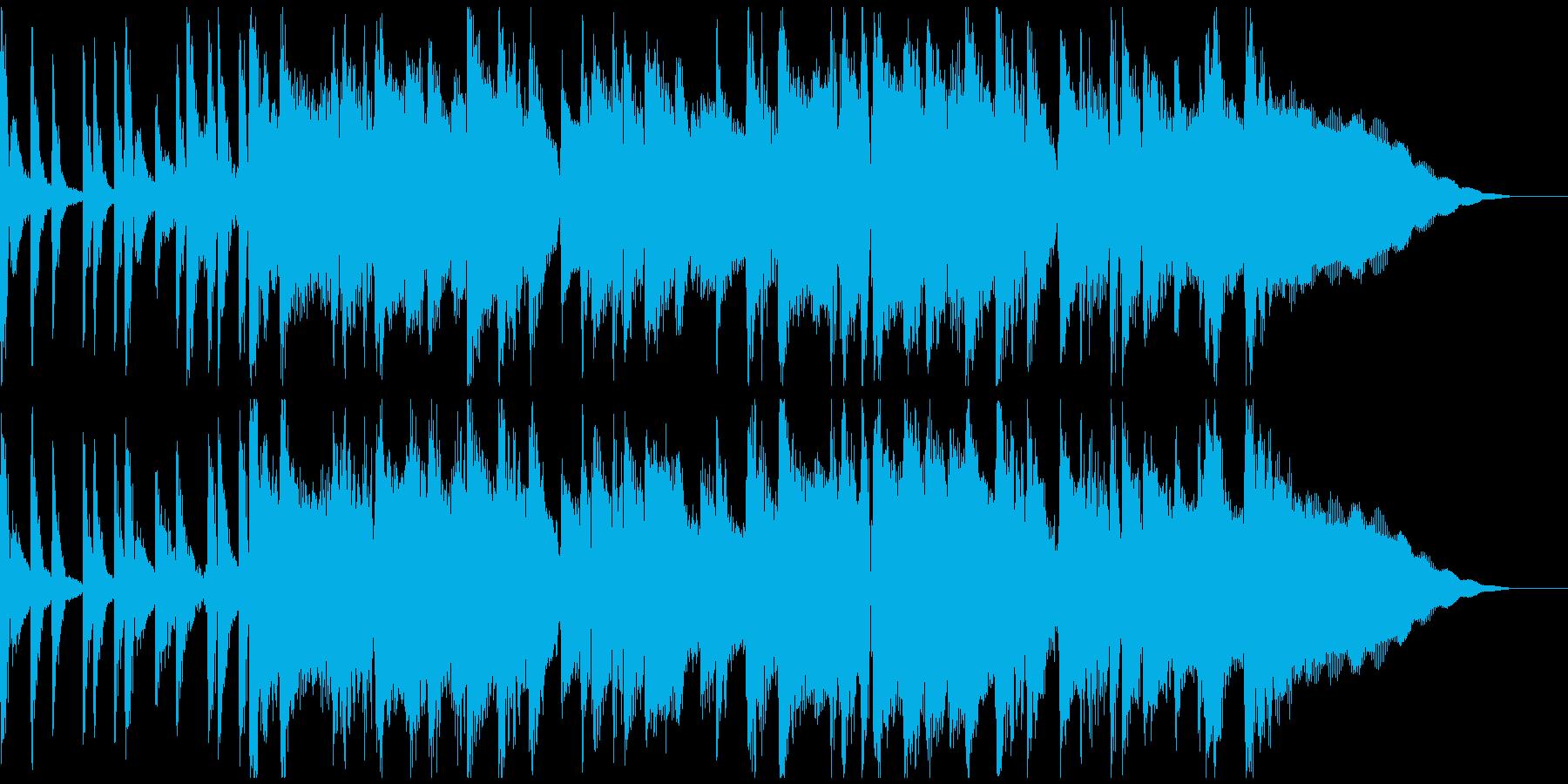 サックスを使ったジャズ風ジングルの再生済みの波形