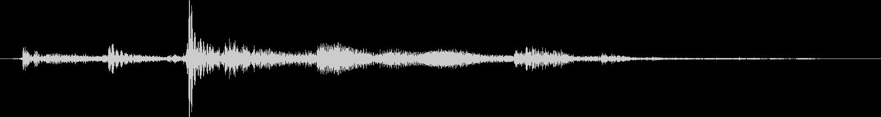 コトッとカギを置いた音2mの未再生の波形