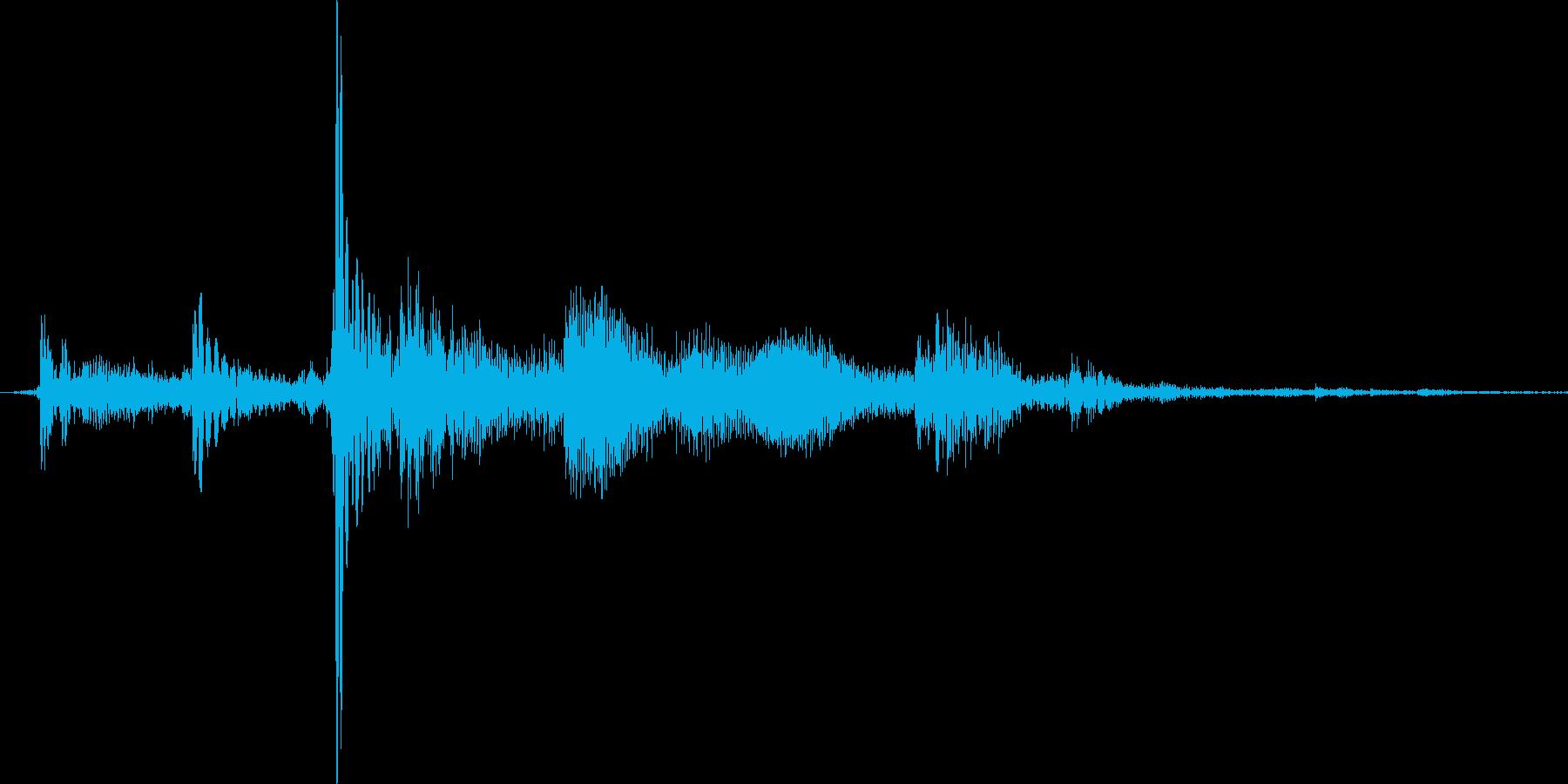 コトッとカギを置いた音2mの再生済みの波形