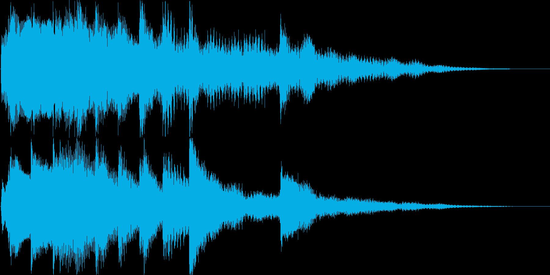 ゲームの宿屋やセーブ画面。睡眠ジングル2の再生済みの波形