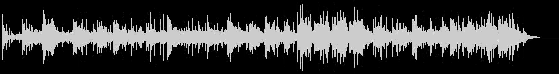 ピアノとシンセのヒーリングミュージックの未再生の波形